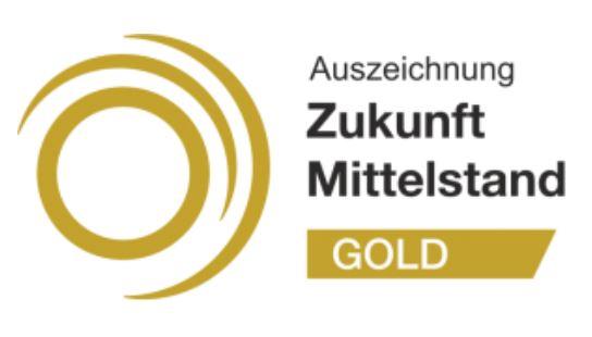 """Goldenes Gütesiegel """"Zukunft Mittelstand"""""""